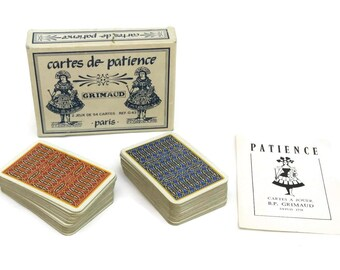 Deck of Patience Cards.