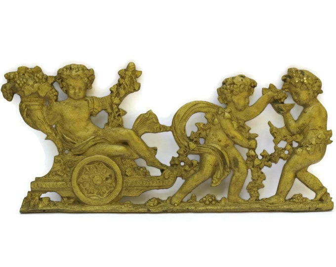 French Antique Cherub Furniture Molding.
