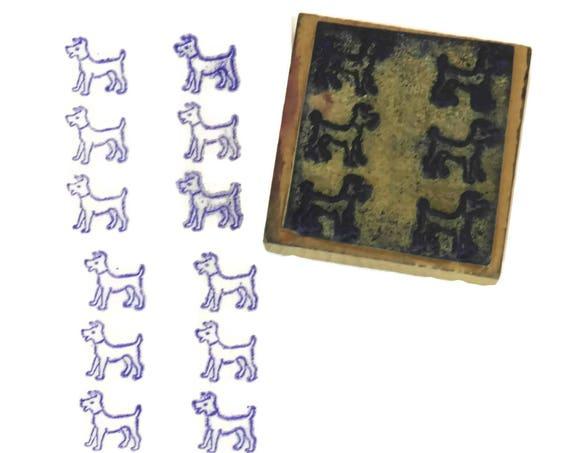 Terrier Dog Rubber Stamp.
