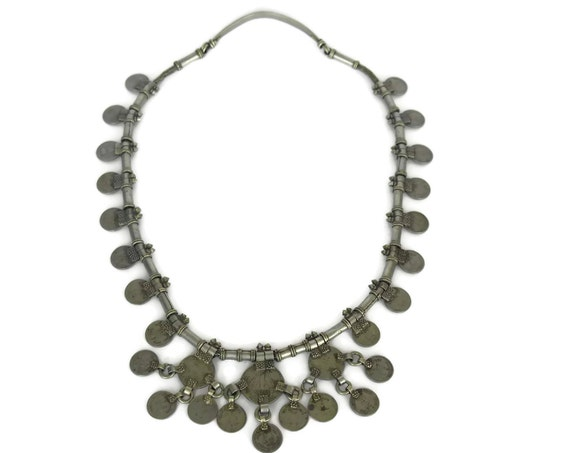 Vintage Indian Rupee Coin Necklace.