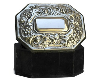 Fench Antique Silver Jewellery Box.