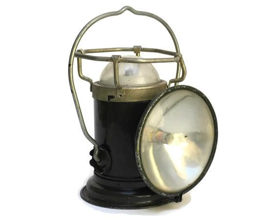 WW2 Military Torch Lantern. Vintage French Pernet Industrial Lamp. Camping and Outdoor Gifts For Him.