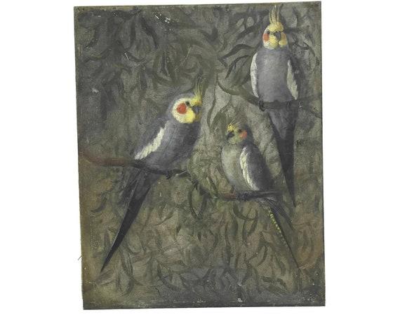 Cockatiel Birds Painting on Canvas