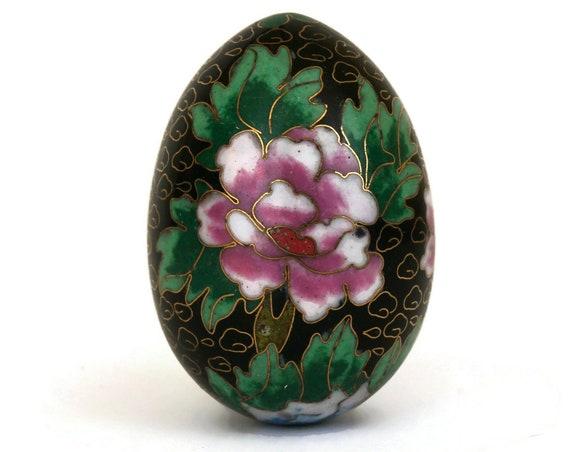 Vintage Collectible Cloisonne Enamel Egg Ornament