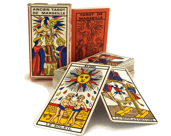 Vintage French Tarot de Marseilles Fortune Telling Cards.