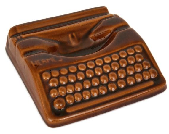 French Vintage Ceramic Hermes Typewriter Coin Dish