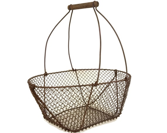 Vintage French Asparagus Basket