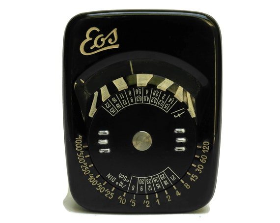 Vintage EOS Light Meter Reader in Leather Case, Exposure Meter, Gifts For Photographer