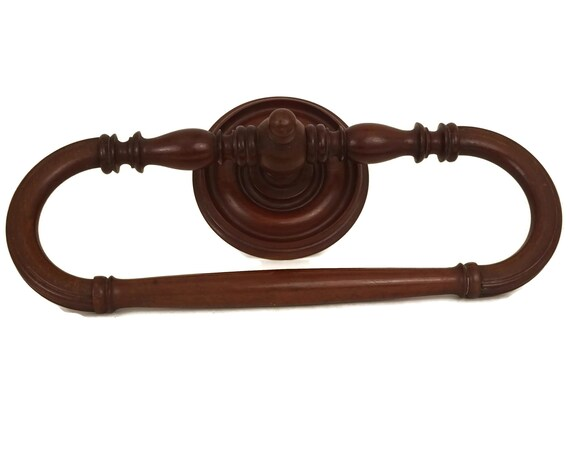 Antique Wooden Towel Ring, Large French Bathroom Wall Towel Rack, Victorian Home Decor, Ciel de Lit Bed Crown Canopy