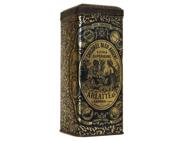 French Antique Tin Box