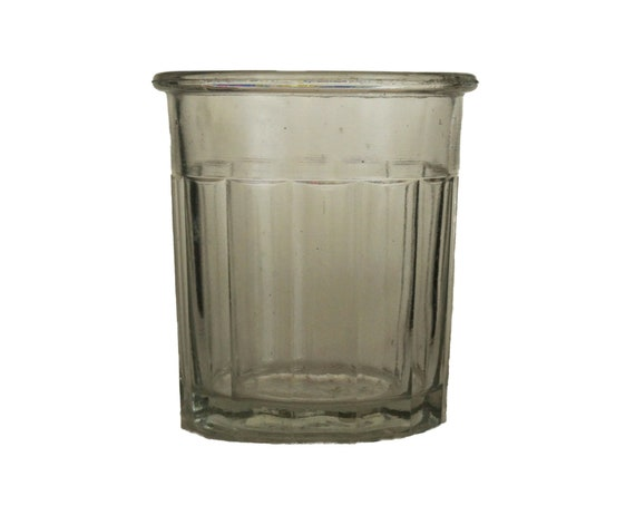 Antique French Glass Jam Pot and Jelly Jar, Country Kitchen Decor