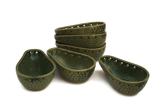 Vintage Avocado Serving Bowl Set of 6