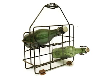 French Wine Bottle Carrier.