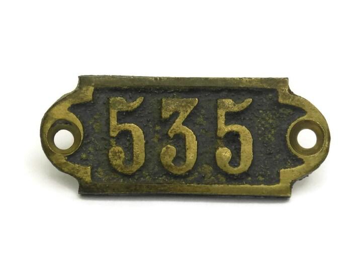 Antique Door Number 535,