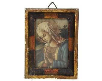 Virgin Mary Portrait Art Print.