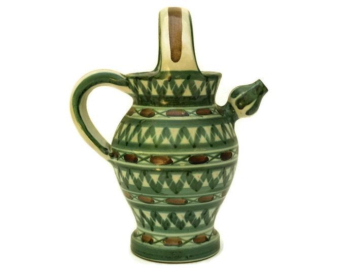 Robert Picault Pottery Jug. Mid Century Vallauris Ceramic Art Studio Wine Pitcher. French Home Decor.
