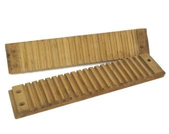 Antique German Cigar Press. Wood Cigar Box. Rustic Wooden Cigar Mold. Cigar Makers Tools. Gift for Smoker.