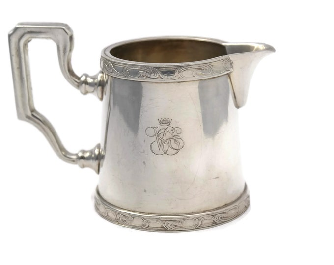 Vintage Orient Express Silver Creamer Jug by Ercuis. French Collectible Railroad Dinnerware. VSOE Venice Simplon Railway Souvenir Silverware
