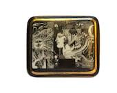 Hollóháza Porcelain Jewelry Box with Surrealist Woman Art by Endre Szász