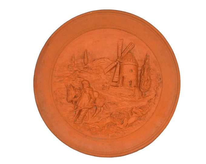 Provence Terracotta Decorative Wall Plate, French Provencal Pottery Souvenir Art Hanging