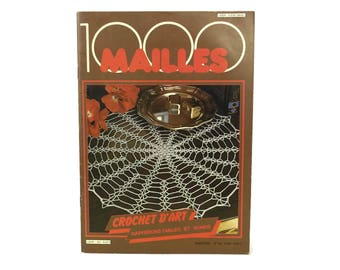 Crochet Doily Pattern Tutorial Book. Learn to Crochet ,How To & Instructions Craft Gifts. Vintage French 1000 Mailles DIY Booklet 50.