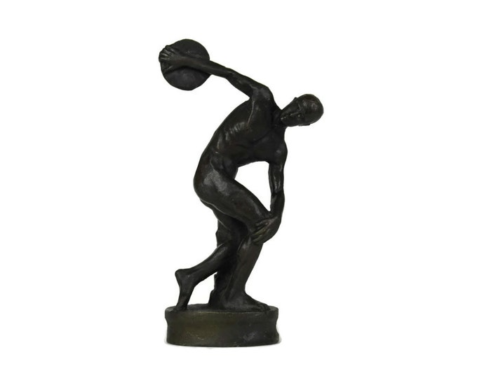The Discobolus of Myron Bronze Statuette. Reproduction Bronze Figurine The Discus Thrower by Myron.