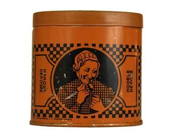 Antique Snuff Tin Box. Prise Peppermunt Extra Van Der Cruyssen's Deynze. Tobacciana Collectible. Gift for Smoker. Farmhouse Country Decor.