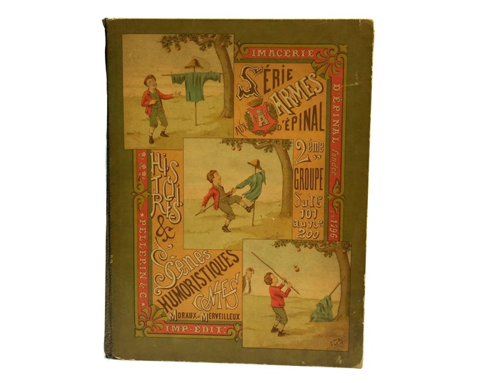 Antique Pellerin Epinal Prints Illustrated Book. Serie Aux Armes D'Epinal 2eme Groupe 101 to 200.