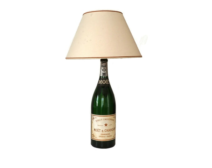 Moet & Chandon Champagne Jeroboam Bottle Lamp, Vintage French Advertising Bar Decor
