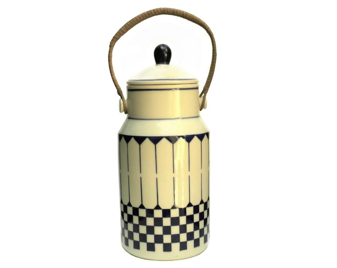 French Pottery Milk Can.