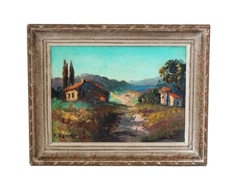 Pierre Dumont Oil Painting of French Country Cottage in Provencal Landscape