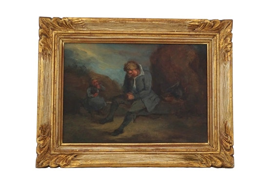 Les Miserables Painting of Jean Valjean and Cosette, Victor Hugo French Literature Art and Gifts