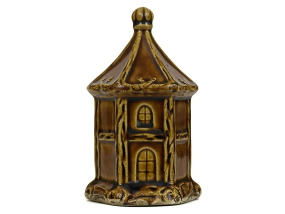 Antique Ceramic House Money Box, French Majolica Coin Bank, Saint Uze Savings Bank, Piggy Bank Collectible
