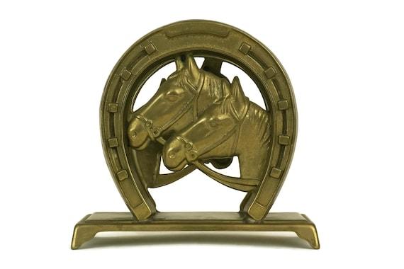 Brass Horse Shoe Letter Rack