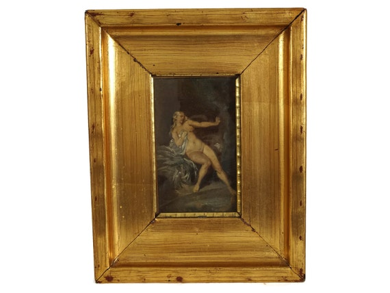 Antique Nude Woman Painting