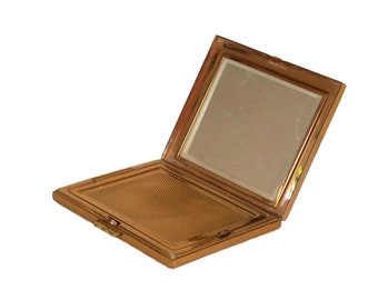 French Vanity Powder Compact and Makeup Mirror Case