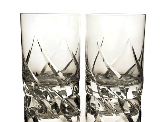 Daum Crystal Whiskey Glasses Set of 2