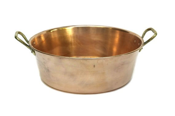Vintage French Copper Preserve Pan