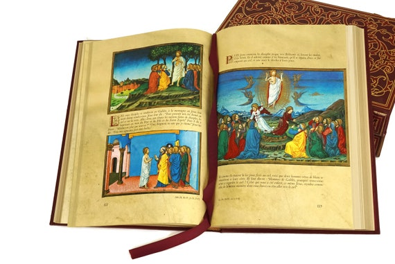 French Holy Bible Book Set, Vintage Christian Prayer Books, Religious Gifts and Library Decor, La Sainte Bible Editions Lidis