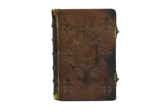Antique Leather Bound French Prayer Book.