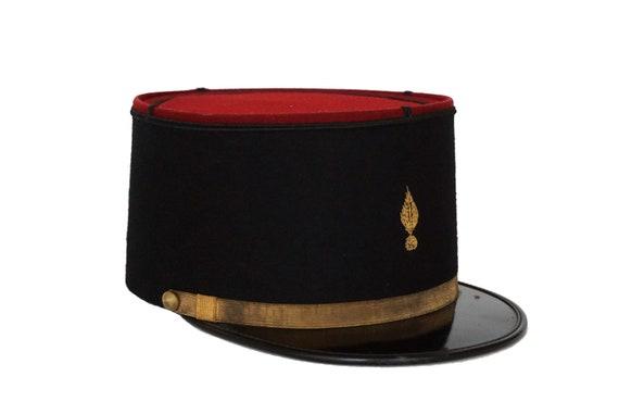 Vintage French Gendarme Hat, Army Uniform Cap Hat, Military Officers Kepi