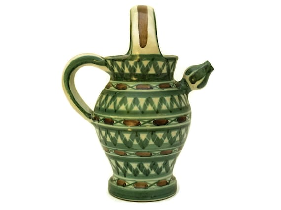 Robert Picault Vallauris Pottery Jug, Mid Century Ceramic Art Studio Wine Pitcher, French Home Decor
