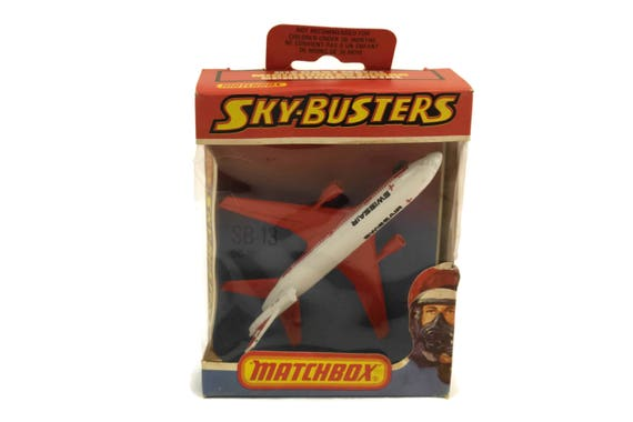 Vintage Matchbox Sky-Busters Swissair SB-13 DC 10. Die Cast Metal Model Airplane. Kids Plane Toy. 1978 Lesney Products.