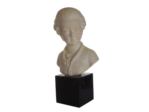 Mozart Bust Statue, Classical Music Composer Gift and Decor