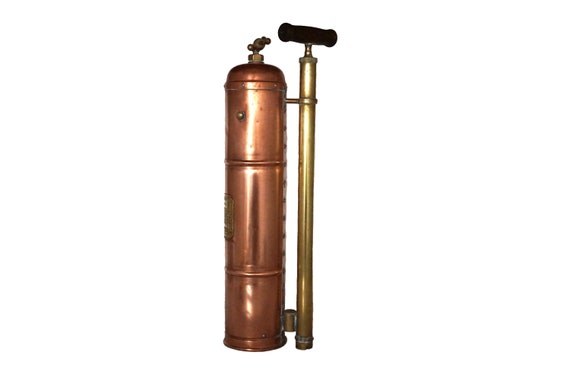 Antique French Copper and Brass Garden and Bug Sprayer, Pulverisateur Le Renover Plant Atomizer