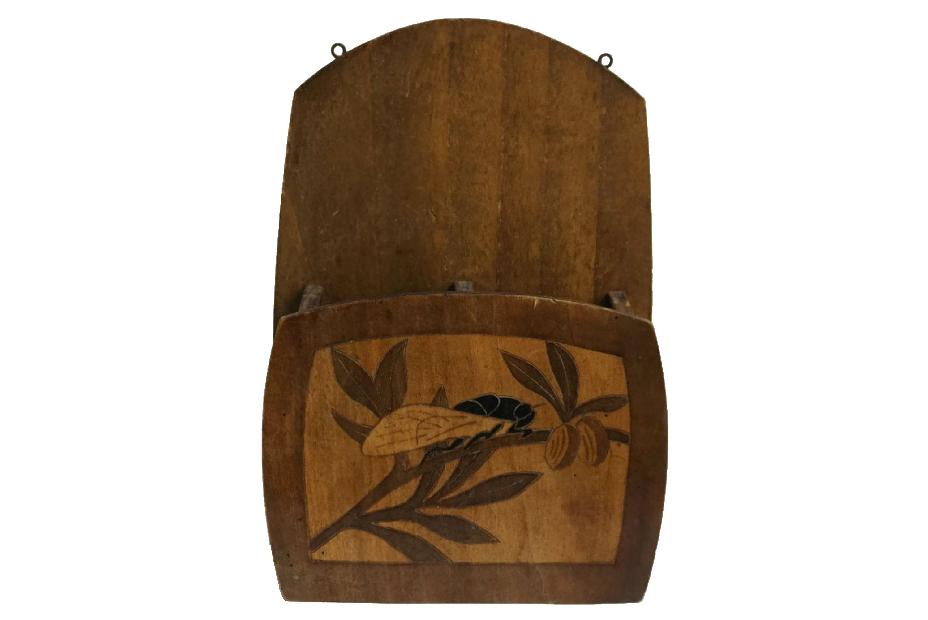 Wall Mail Organizer With Cicada And Olive Branch French Provence Kitchen Decor