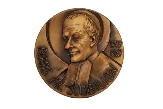 Blessed Jean-Bernard Rousseau Bronze Medal, Brother Scubilion De La Salle Brothers Catholic Gift