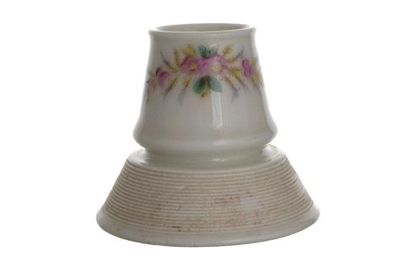 Antique Match Striker and Holder, French Porcelain Matchstick Pyrogene