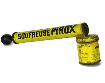 Vintage Insect Sprayer. French Advertising PIROX Pump Atomizer. Plant and Bug Sprayer. Insecticide Spray Gun.