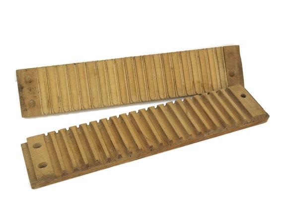 Antique German cigar press, wood cigar box, rustic wooden cigar mold, cigar makers tools, gift for smoker, industrial decor